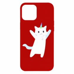 Чохол для iPhone 12 Pro Max White cheerful cat