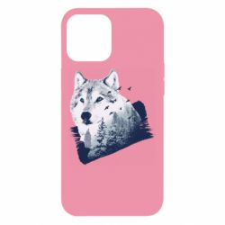 Чехол для iPhone 12 Pro Max Wolf and forest