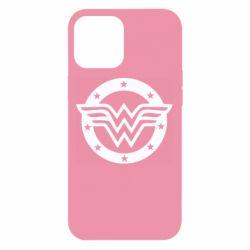 Чехол для iPhone 12 Pro Max Wonder woman logo and stars
