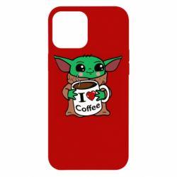 Чехол для iPhone 12 Pro Max Yoda and a mug with the inscription I love coffee