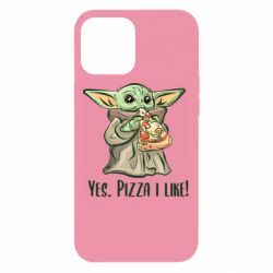 Чехол для iPhone 12 Pro Max Yoda and pizza