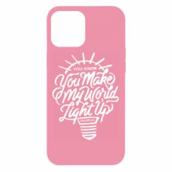 Чохол для iPhone 12 Pro Max You know your make my world light up coldplay