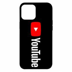 Чехол для iPhone 12 Pro Max Youtube logotype
