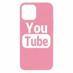 Чохол для iPhone 12 Pro Max Youtube vertical logo