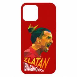 Чехол для iPhone 12 Pro Max Златан Ибрагимович, полигональный портрет