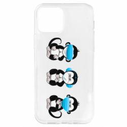 Чохол для iPhone 12 Pro Monkeys in medical masks