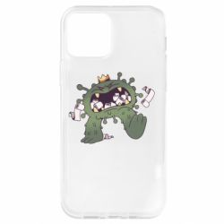 Чохол для iPhone 12 Pro Monster with a crown and paper
