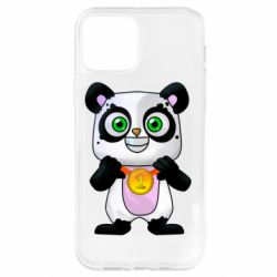Чохол для iPhone 12 Pro Panda with a medal on his chest