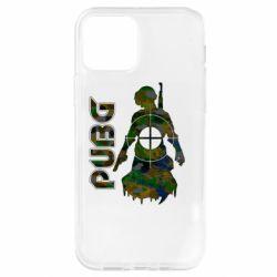 Чохол для iPhone 12 Pro Pubg camouflage silhouette