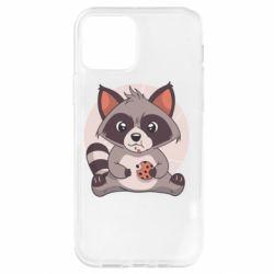 Чохол для iPhone 12 Pro Raccoon with cookies