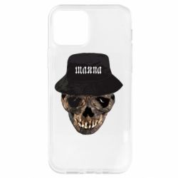 Чохол для iPhone 12 Pro Skull in hat and text