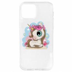 Чохол для iPhone 12 Pro Unicorn with flowers