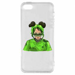 Чохол для iPhone 5S Billie Eilish green style