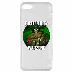 Чохол для iPhone 5S Call of duty Warzone ghost green background