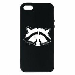 Чохол для iPhone 5S Cute raccoon face