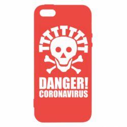 Чохол для iPhone 5S Danger coronavirus!