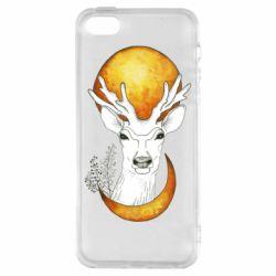 Чохол для iPhone 5S Deer and moon