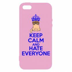 Чехол для iPhone 5S KEEP CALM and HATE EVERYONE