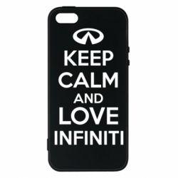 Чехол для iPhone 5S KEEP CALM and LOVE INFINITI