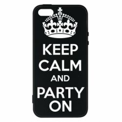 Чехол для iPhone 5S KEEP CALM and PARTY ON