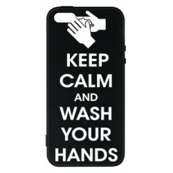 Чохол для iPhone 5S Keep calm and wash your hands