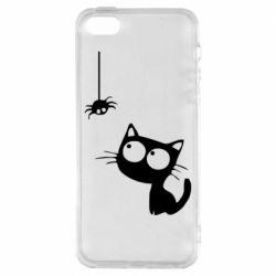 Чохол для iPhone 5S Котик і павук