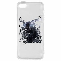 Чохол для iPhone 5S Lady cat with pattern