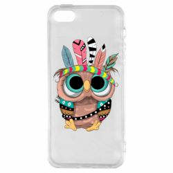 Чохол для iPhone 5S Little owl with feathers