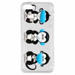 Чохол для iPhone 5S Monkeys in medical masks