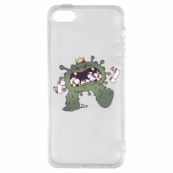 Чохол для iPhone 5S Monster with a crown and paper