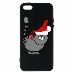 Чехол для iPhone 5S Новогодний котэ