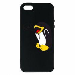 Чехол для iPhone 5S Пингвин Линукс