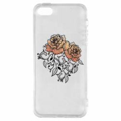 Чохол для iPhone 5S Roses with patterns