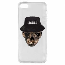 Чохол для iPhone 5S Skull in hat and text