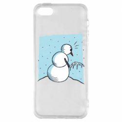 Чохол для iPhone 5S Snowman. It's Cold!