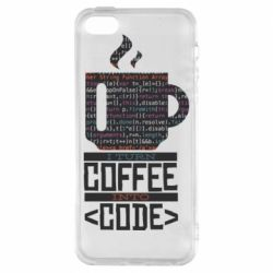Чохол для iPhone 5S Сoffee code