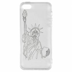 Чохол для iPhone 5S Statue of Liberty with a medical mask