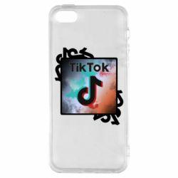 Чохол для iPhone 5S Tik Tok art
