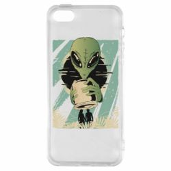Чохол для iPhone 5S Alien with a can