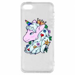 Чохол для iPhone 5S Unicorn Princess