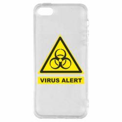 Чохол для iPhone 5S Warning Virus alers