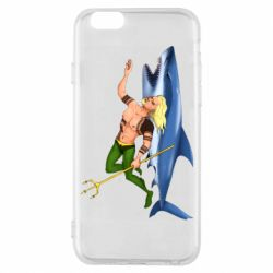 Чехол для iPhone 6/6S Aquaman with a shark