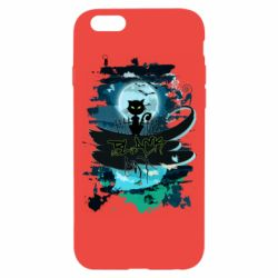 Чехол для iPhone 6/6S Black cat art