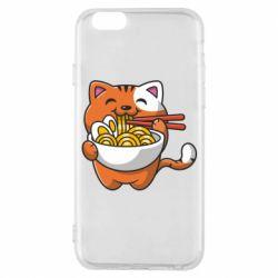 Чохол для iPhone 6/6S Cat and Ramen