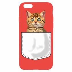 Чехол для iPhone 6/6S Cat in your pocket