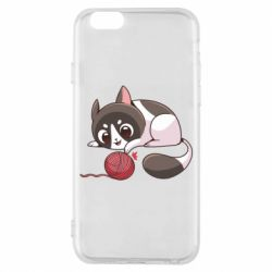 Чохол для iPhone 6 Cat with a ball