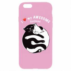 Чехол для iPhone 6/6S Cats and love