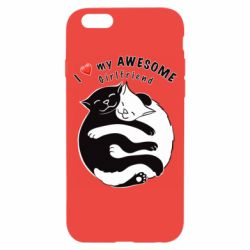 Чехол для iPhone 6/6S Cats with red heart
