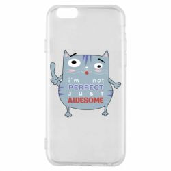 Чехол для iPhone 6/6S Cute cat and text