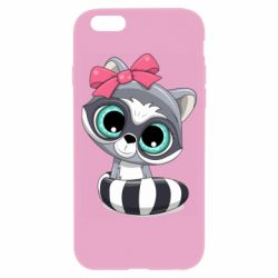Чехол для iPhone 6/6S Cute raccoon